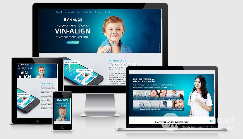 Thiết kế web phòng khám nha khoa chuyên nghiệp